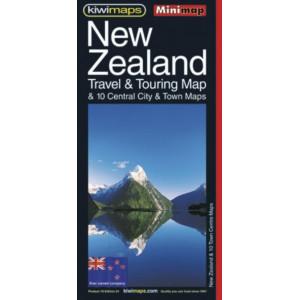 Kiwimaps New Zealand Touring & 10 Town Centres Minimap No. 18