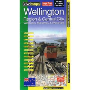Kiwimaps Wellington City Minimap 12th ed