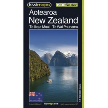 Kiwimaps Aotearoa/New Zealand Pathfinder Map No.108