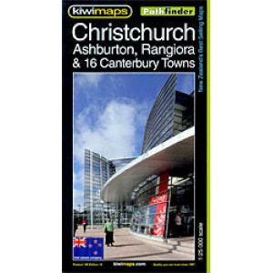 Kiwimaps Christchurch Pathfinder Map No.105