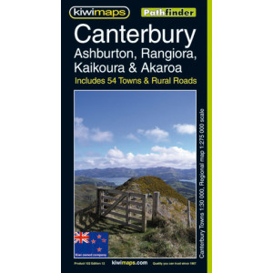 Kiwimaps Canterbury & Westcoast Map 102