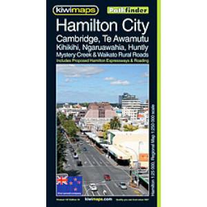 Kiwimaps Hamilton City Pathfinder Map 107