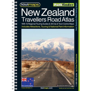 Kiwimaps New Zealand Travellers Road Atlas 2014 Pathfinder Book-Maps no.204