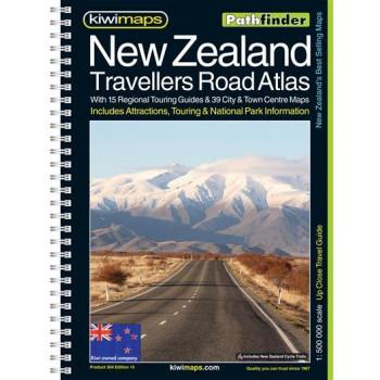 Kiwimaps New Zealand Travellers Road Atlas 2014 Pathfinder Book-Maps no.204
