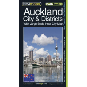 Kiwimaps Auckland City & Districts Map 100