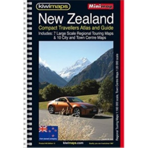 Kiwimaps New Zealand Compact Touring Atlas
