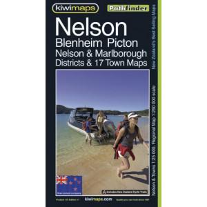 Kiwimaps Nelson Blenheim Picton Pathfinder Map No.115