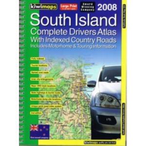Kiwimaps South Island Complete Drivers Atlas No. 252