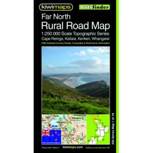 Kiwimaps Far North Rural Road Map No. 250-01