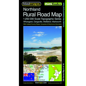 Kiwimaps Northland Rural Road Map 250-2C