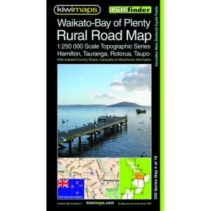 Kiwimaps Waikato-Bay of Plenty Rural Road Map 250-4