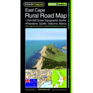 Kiwimaps East Cape Rural Road Map 250-5