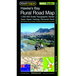 Kiwimaps Hawkes Bay Rural Minimap 3rd ed
