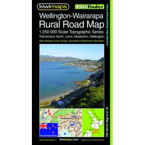 Kiwimaps Wellington-Wairarapa Rural Road Map 250-8