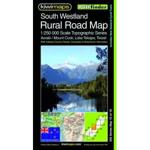 Kiwimaps South Westland Rural Road Map