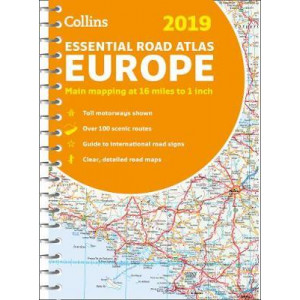 2019 Collins Essential Road Atlas Europe