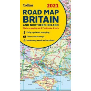 Map of Britain 2021: Folded road map (Collins Road Atlas)