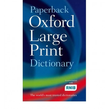 Paperback Oxford Large Print Dictionary