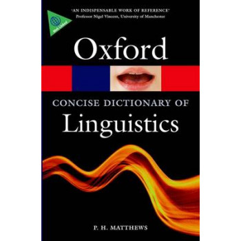 Concise Oxford Dictionary of Linguistics