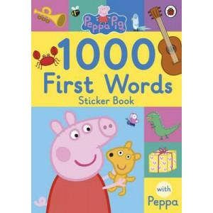 Peppa Pig: 1000 First Words Sticker Book
