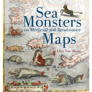 Sea Monsters on Medieval Renaissance Map