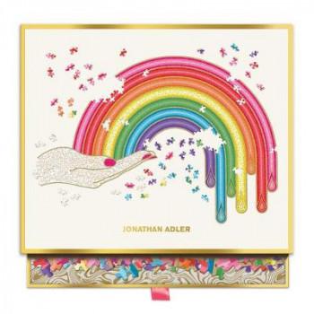 Jonathan Adler Rainbow Hand 750 Piece Shaped Jigsaw Puzzle