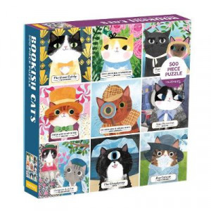 Bookish Cats 500 Piece Jigsaw Puzzle