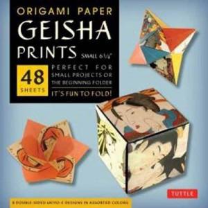 Origami Paper Geisha Prints: Small