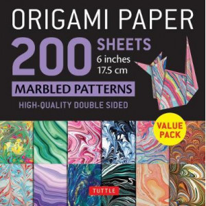 """Origami Paper 200 sheets Marbled Patterns 6"""" (15 cm): Tuttle Origami Paper: High-Quality Double Sided Origami Sheets Printed with 12 Different Pattern"""