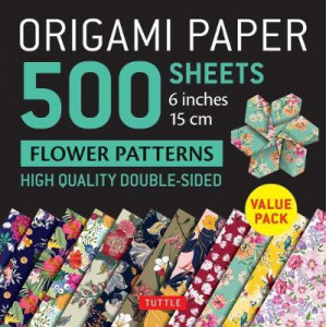 """Origami Paper 500 sheets Flower Patterns 6"""" (15 cm): Tuttle Origami Paper: High-Quality Double-Sided Origami Sheets Printed with 12 Different Patterns"""