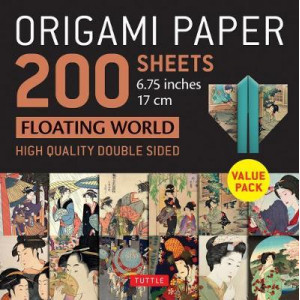 "Origami Paper 200 sheets Floating World 6 3/4"" (17 cm): Tuttle Origami Paper: High-Quality Double Sided Origami Sheets Printed with 12 Different Print"