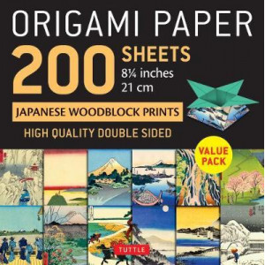 "Origami Paper 200 sheets Japanese Woodblock Prints 8 1/4"": Extra Large Tuttle Origami Paper: High-Quality Double Sided Origami Sheets Printed with 12"