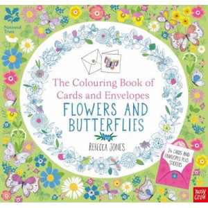 National Trust: Colouring Cards and Envelopes: Flowers and Butterflies