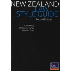 New Zealand Law Style Guide 2e