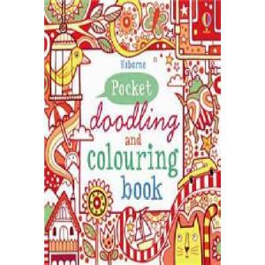 Red Pocket Doodling & Colouring Book