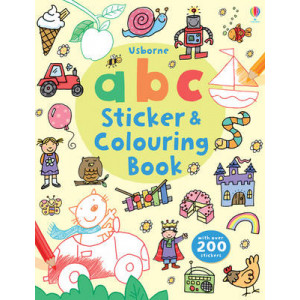 ABC Sticker & Colouring Book