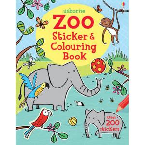 Zoo Sticker & Colouring Book