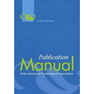 Publication Manual of the American Psychological Association APA (Paperback Edition)