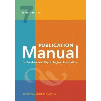 Publication Manual of the American Psychological Association APA 7E (Paperback Ed)