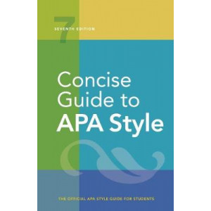 Concise Rules of APA Style (7th Edirtion, 2019)