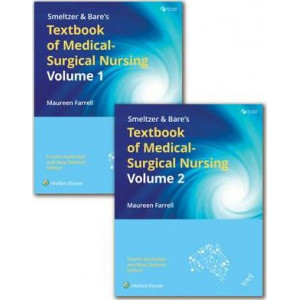Package of Farrell's Smeltzer & Bare's Textbook of Medical-Surgical Nursing 2 vol set with PrepU 12 months Access Card