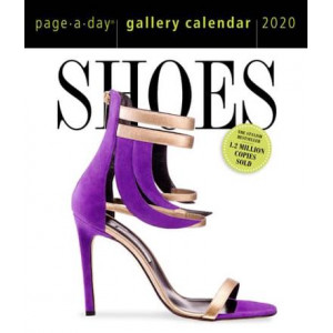 2020 Shoes Gallery Page-A-Day Perspex Box Calendar