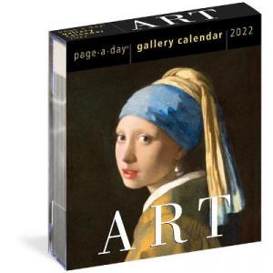 2022 Calendar Art  Gallery Page a Day Calendar in Plastic Box