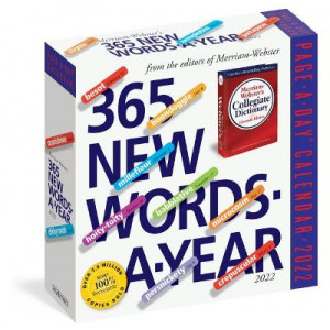 2022 Calendar 365 New Words-a-Year Page a Day Calendar in Box