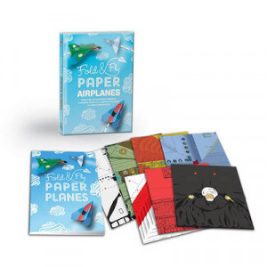 Fold & Fly Paper Airplanes: Includes an Easy-to-Use Instruction Book and More Than 180 Illustrated Papers for 12 Soaring