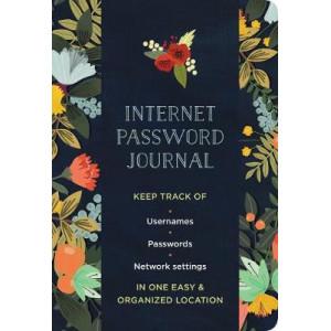 Internet Password Logbook Modern Floral