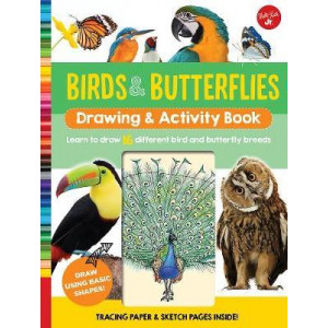 Birds & Butterflies Drawing & Activity Book: Learn to draw 17 different bird and butterfly species