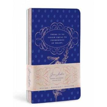 Jane Austen Sewn Pocket Notebook Collection: Set of 3