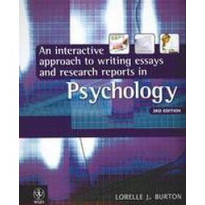 Interactive Approach to Writing Essays and Research Reports in Psychology