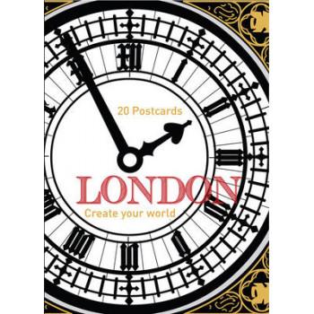 London: Colour-in Postcard Book